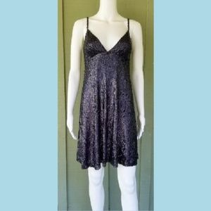 JENNY PACKHAM Dark Purple Sequin Cocktail Dress